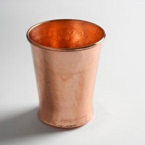 Χάλκινο ποτήρι κώνικο για νερό 250ml A 7,5 cm και 400ml Α 8,5 cm