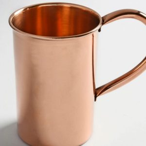 Χάλκινο ποτήρι για νερό με χερούλι 250ml-Α 6,5 cm και 500ml-7,5 cm
